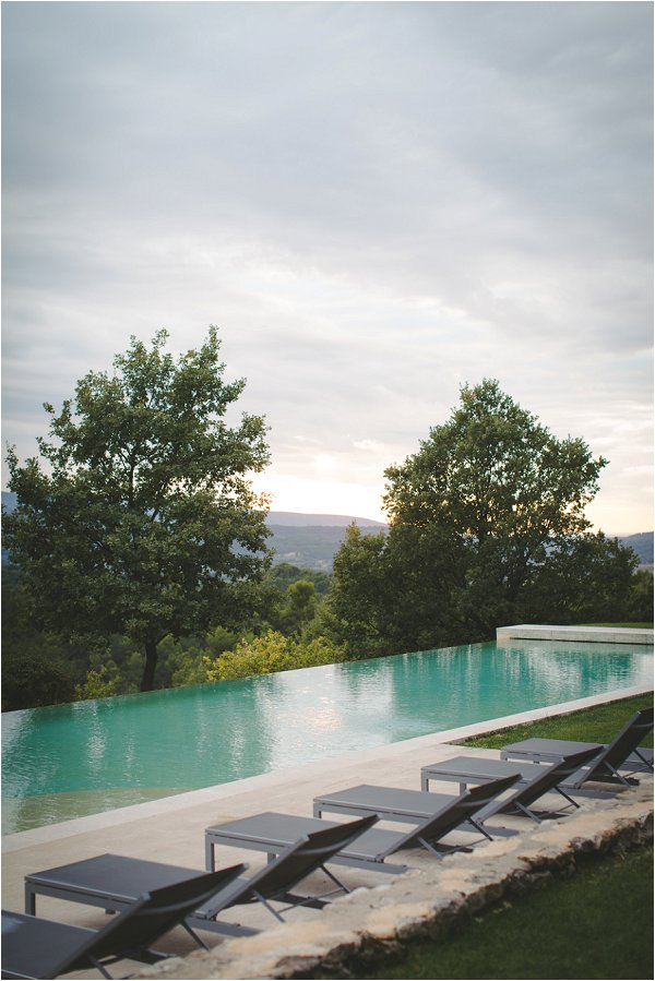 Infinity pool with a view in Bonnieux Provence
