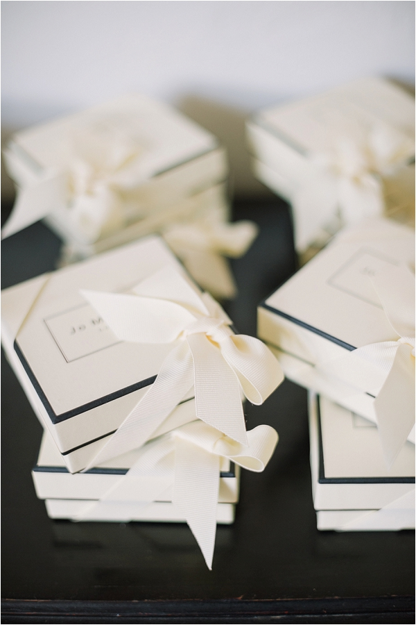 Jo Malone wedding favors