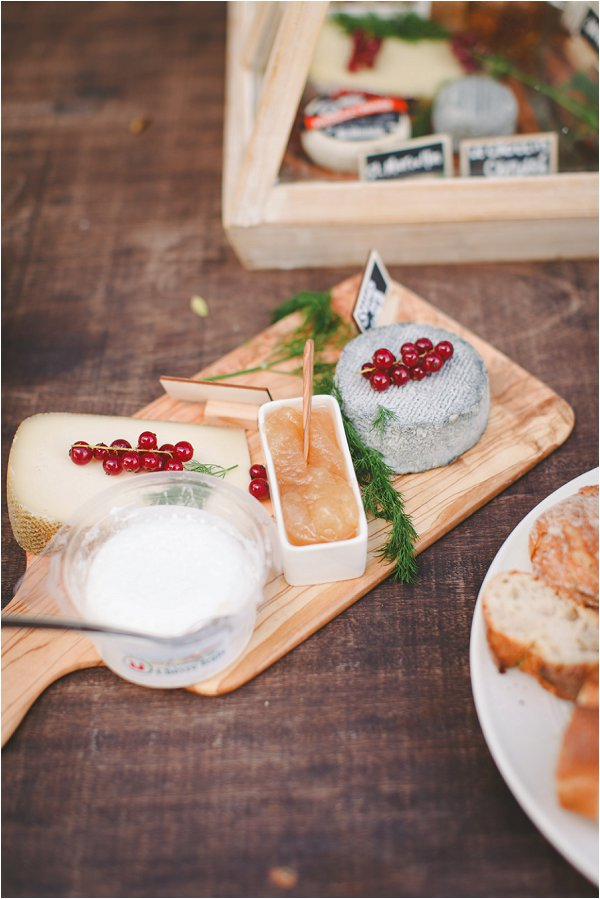 Local Cheese in DIY Provence Wedding
