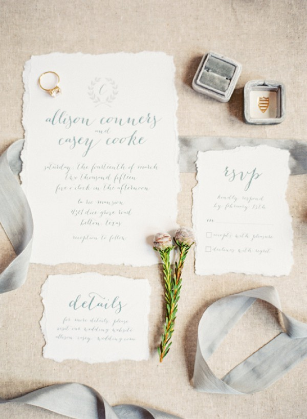 Luxury Wedding Stationery Grey