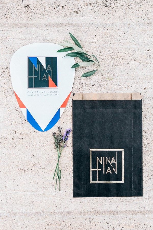 Modern inspired wedding stationary