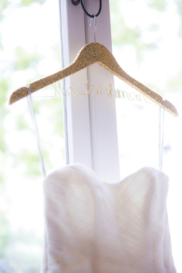 Pretty bridal hanger ideas
