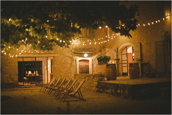 Stone courtyard at Provence Wedding venue