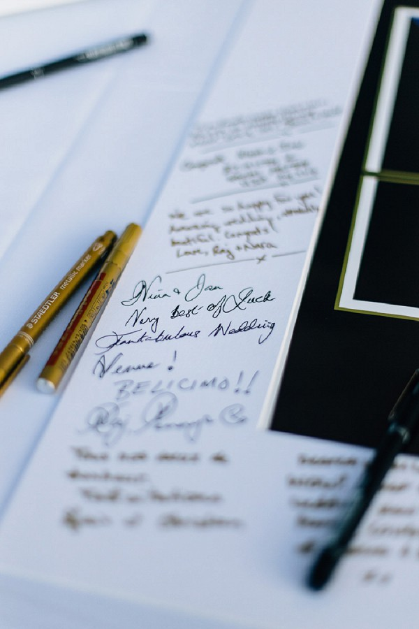 Unique guest book wedding