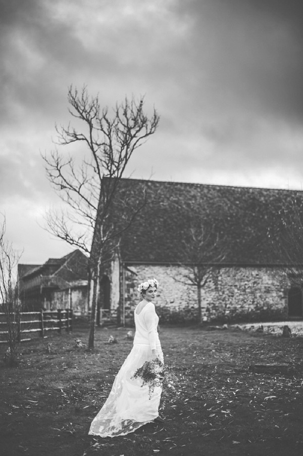 Winter wedding bridal portaits