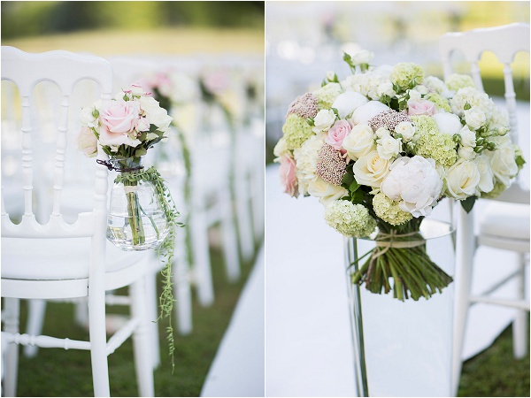 blush and white wedding flowers