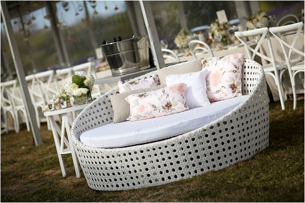 create a wedding reception lounge