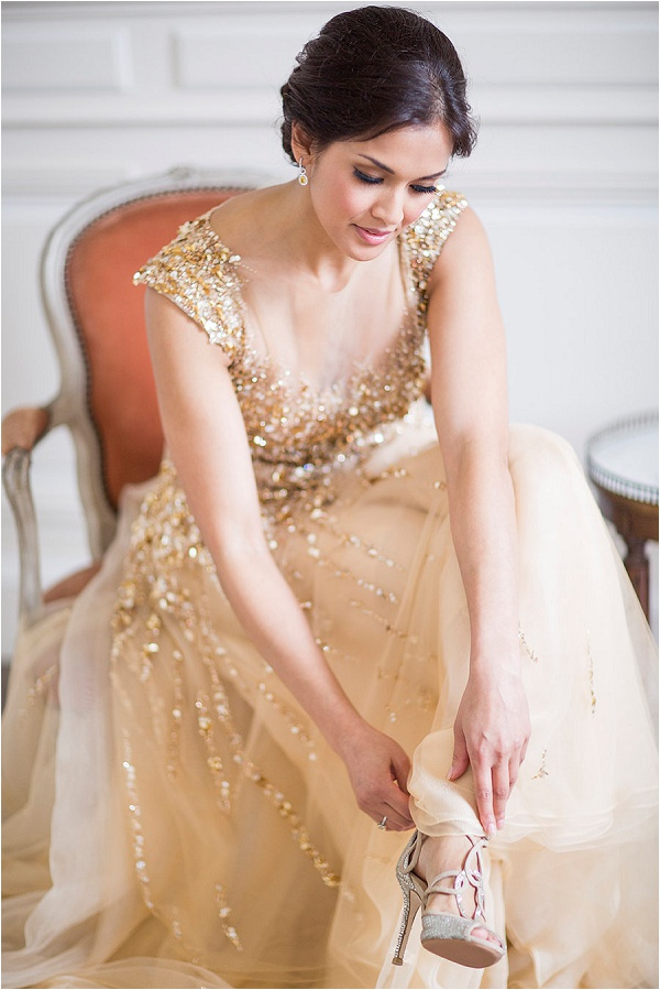 gold wedding dress by Noel Chu Atelier