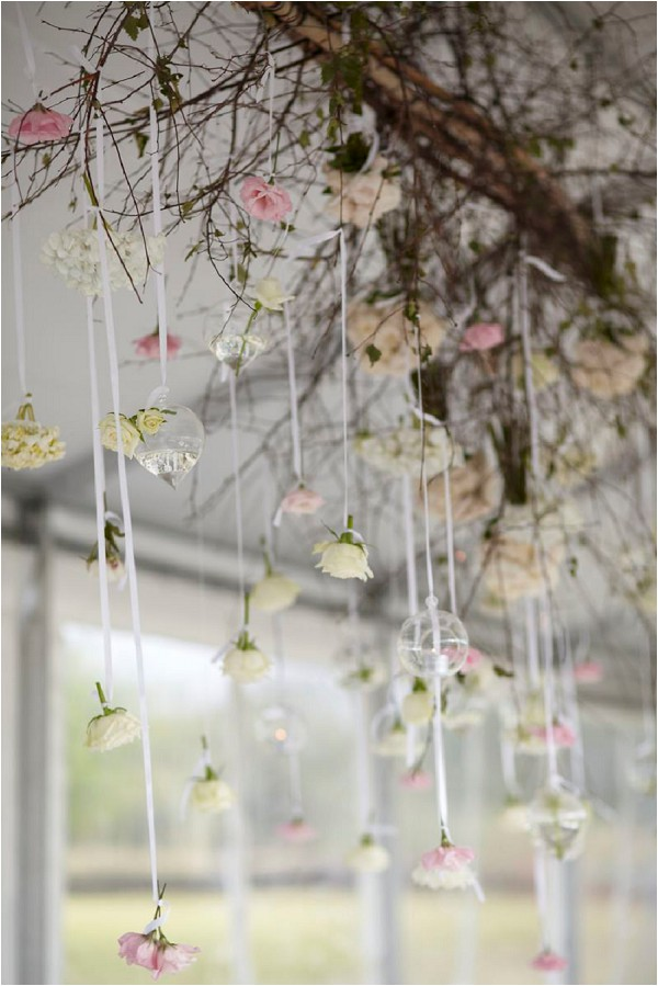 hanging wedding flower decorations