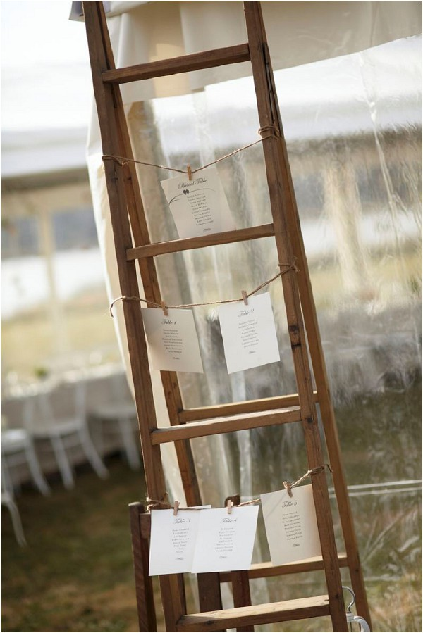 ladder wedding place settings