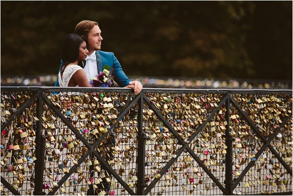 love lock bridge in Paris