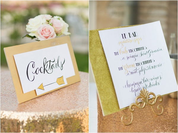 old world elegant wedding signage