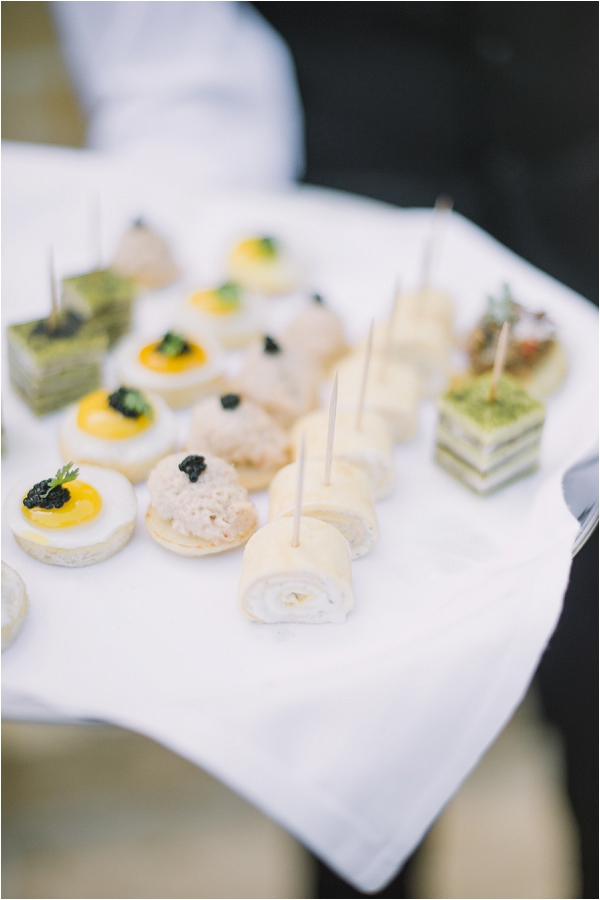 stylish wedding canapes