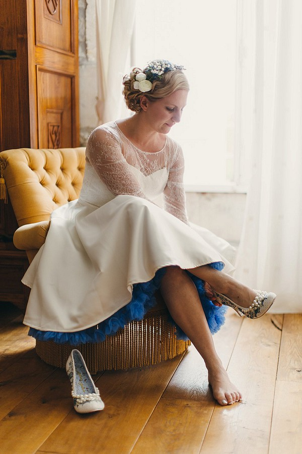 1950's inspired wedding gown