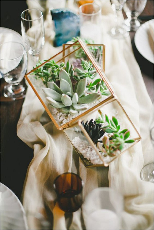 Copper, terrariums and geometric shapes