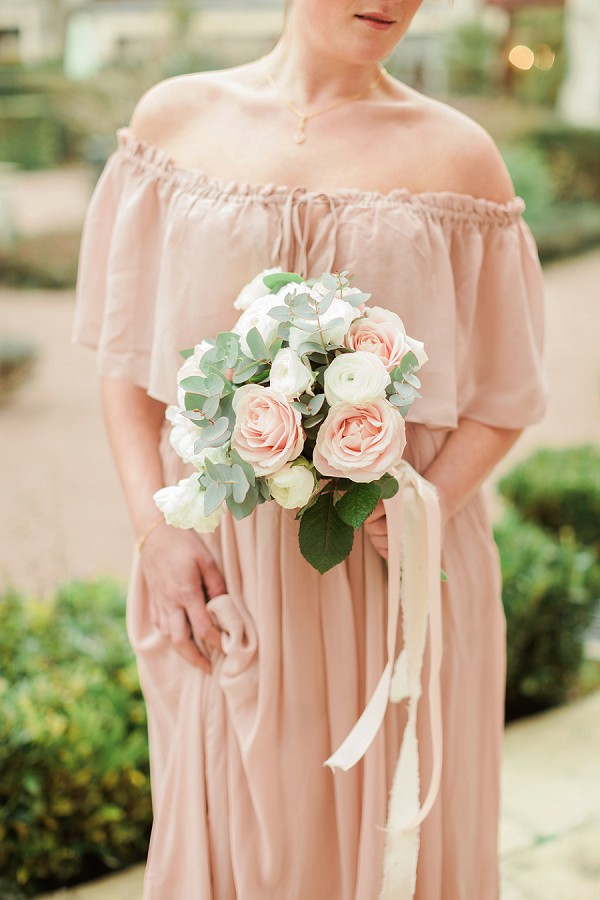Blush and Cream Wedding Bouquet