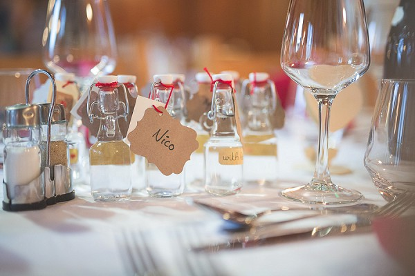 Boozy wedding favours