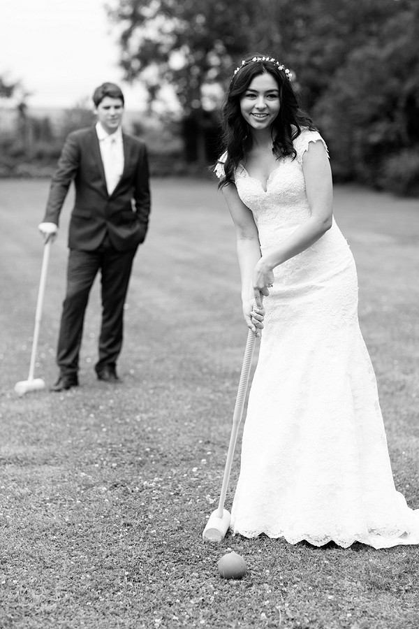 Croquet wedding day games