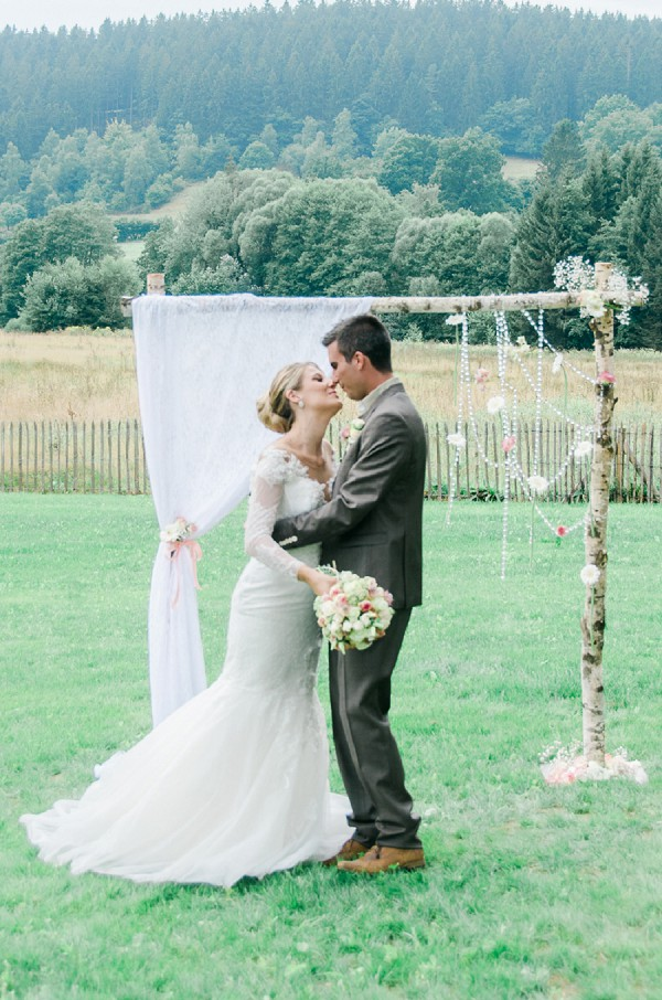 Flower and Lace Wedding arch