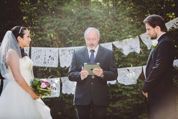 Lace bunting wedding