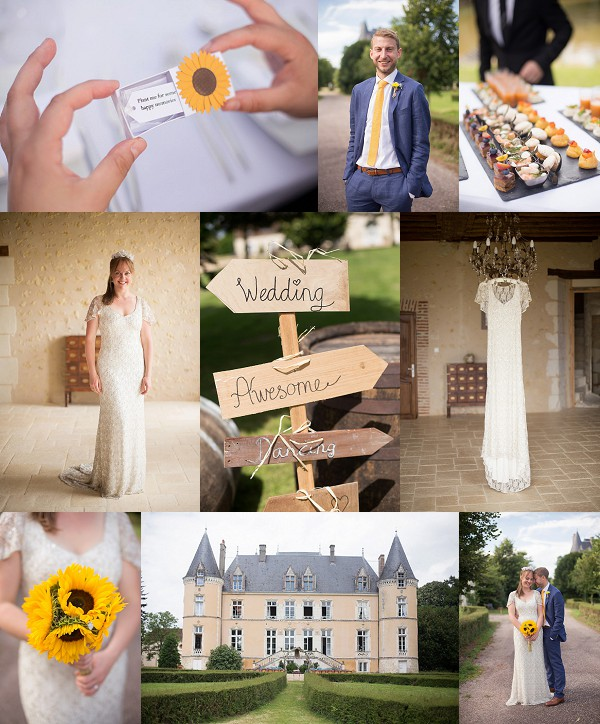 Sunflower Chateau Wedding in Normandy Snapshot