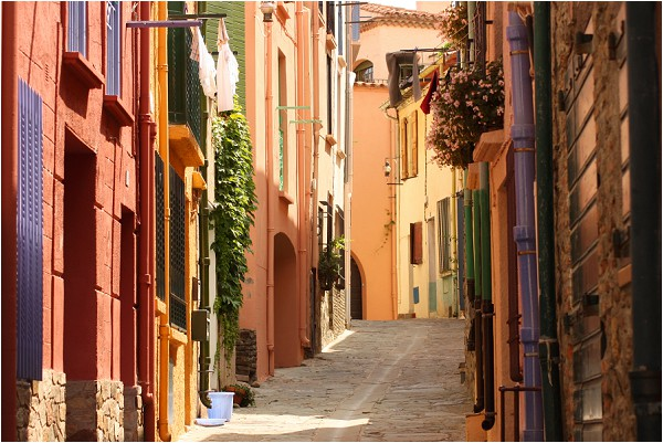 cobbled streets of Collioure