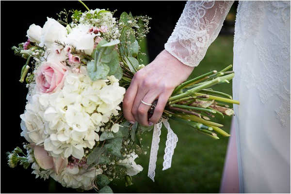 pretty hand cut wedding bouquet