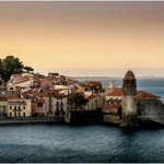 sunset at Collioure in France