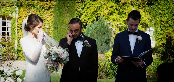 tissues at the ready on wedding day
