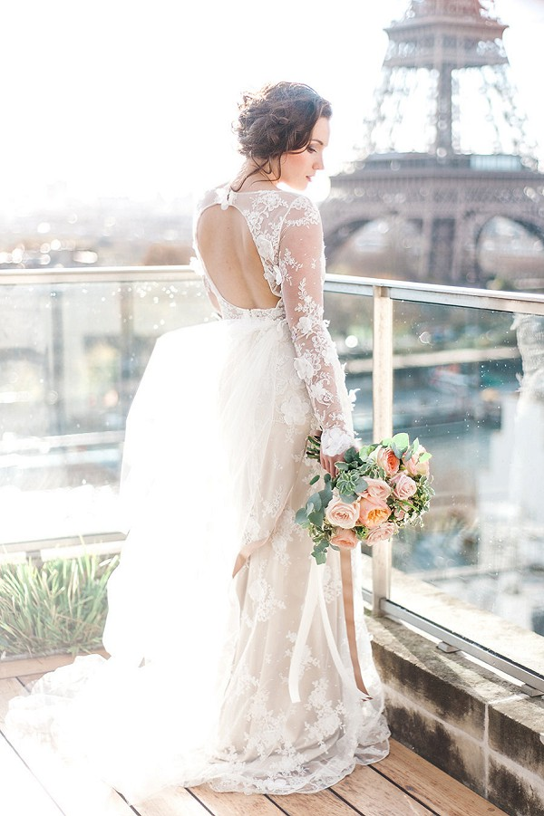 Backless Claire Pettibone Wedding dress