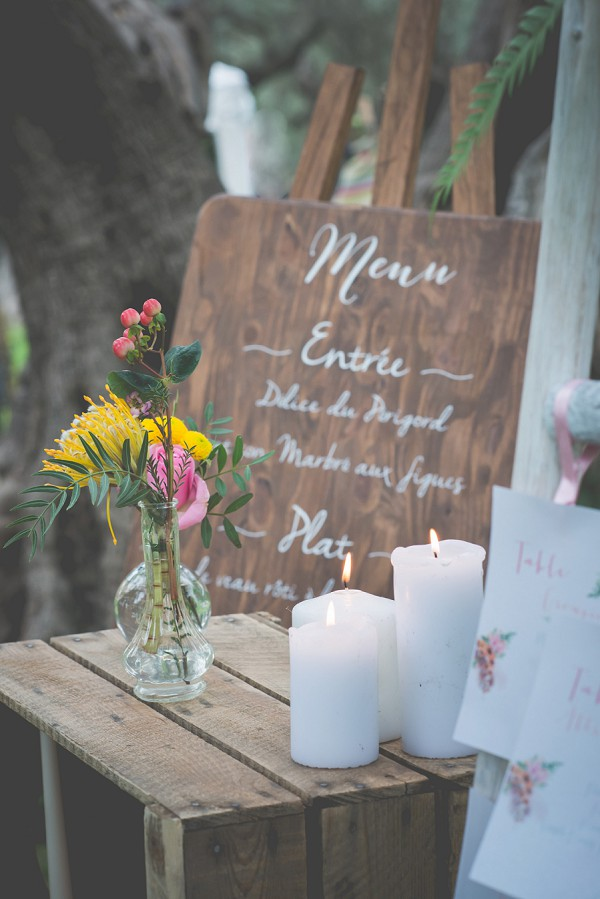 Boho wedding menu ideas