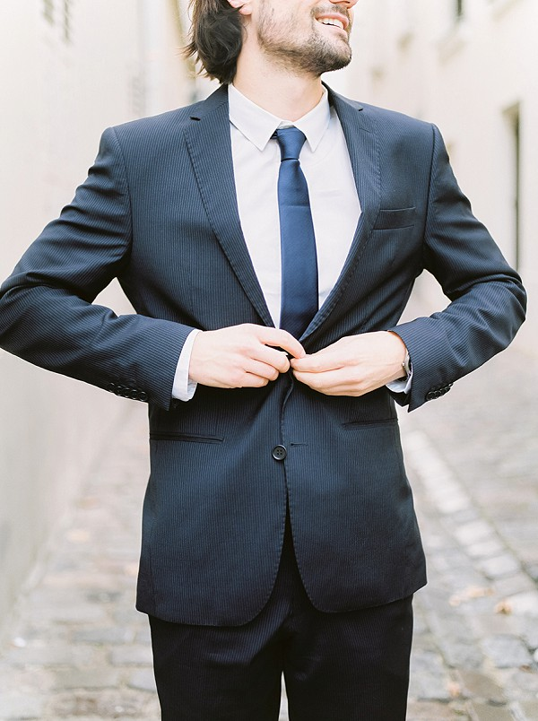 Dapper groom in Navy suit