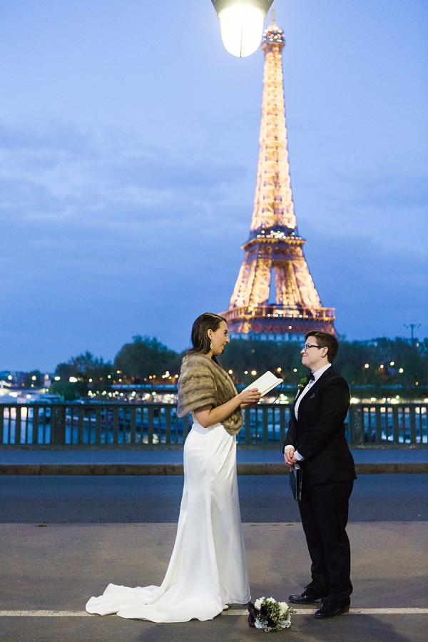 Eiffel Tower Vow Exchange