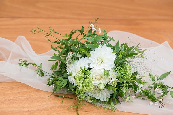 Rustic greenery bouquet