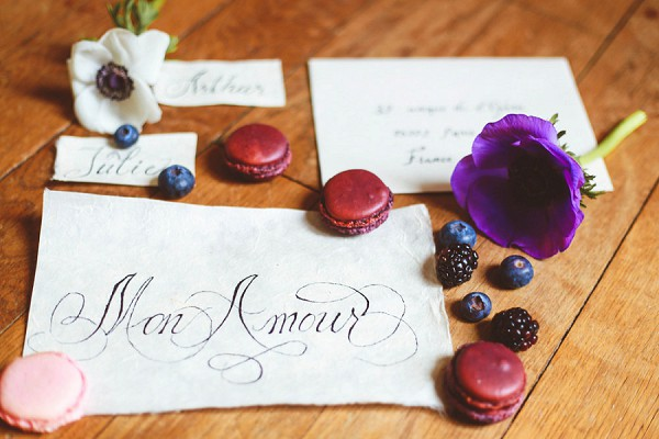 Simple calligraphed invitations