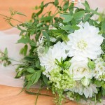 Simple green and white bouquet