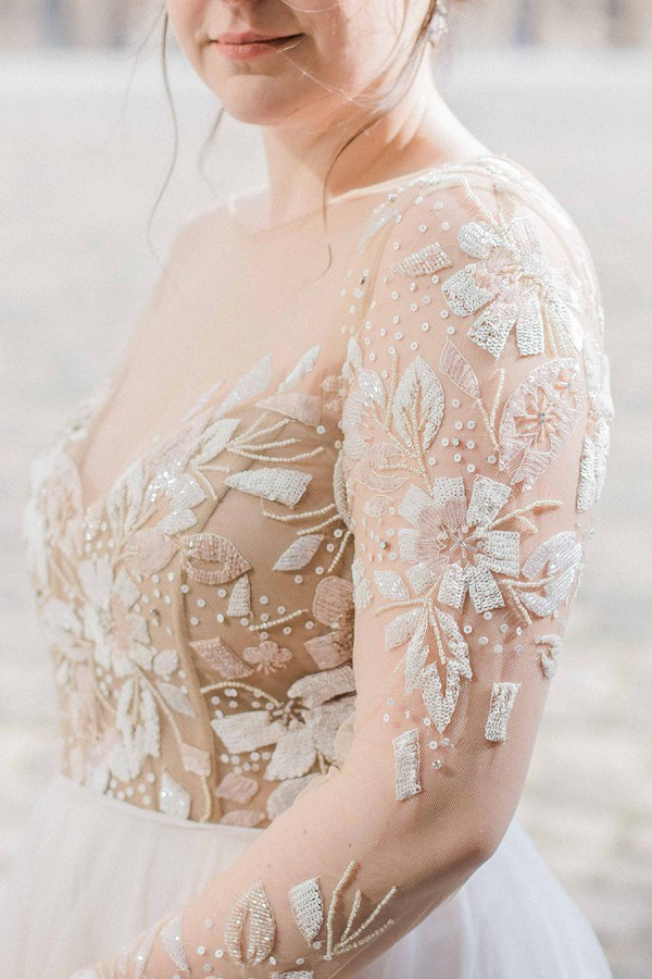Stunning wedding gown detail