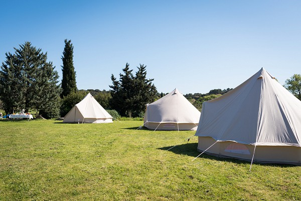 Wedding guest tent accommodation