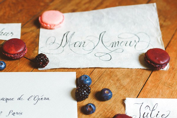 calligraphy wedding stationary