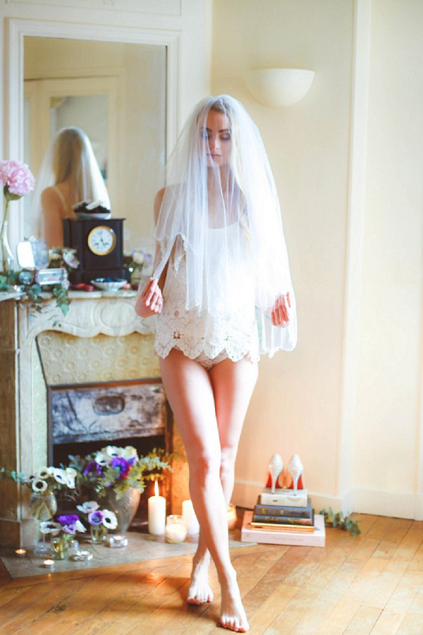 gray, lilac and rose bridal shoot