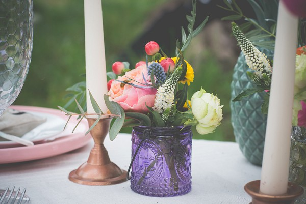 hippie wedding theme table setting