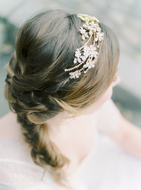 intricate wedding headpiece