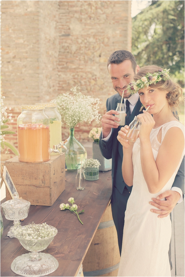 vintage inspired wedding drinks bar