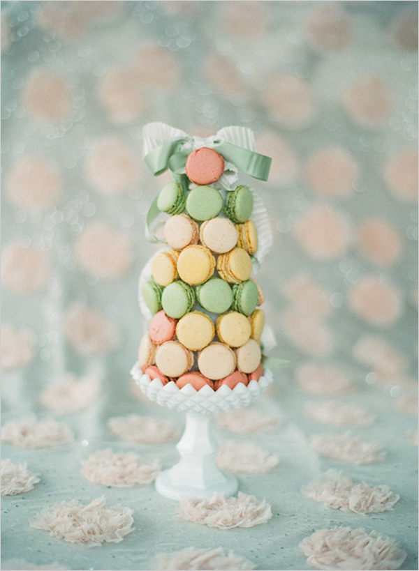 French macaron wedding cake