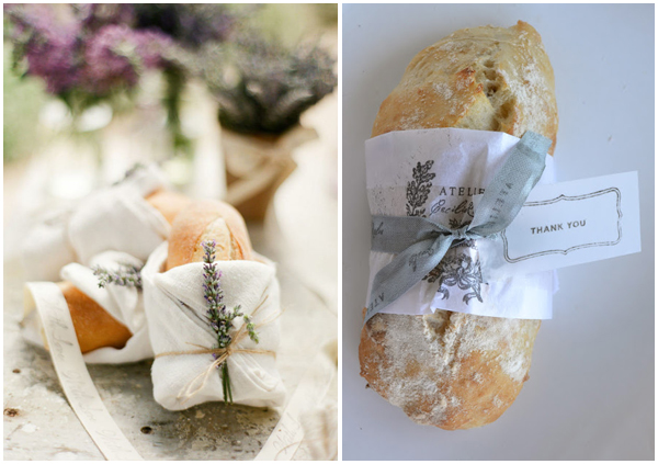 Bread favor at weddings