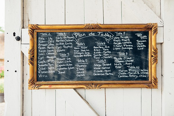Chalk board table plan wedding