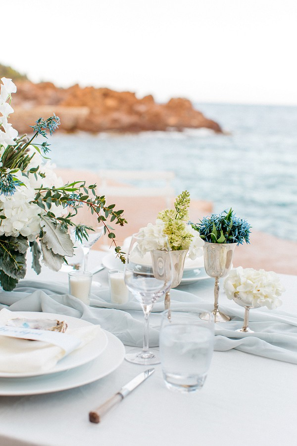 Elegant beach wedding decor