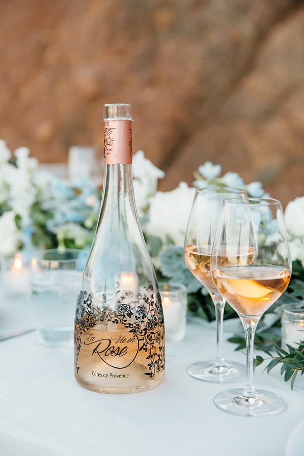 Elegant wedding day drinks
