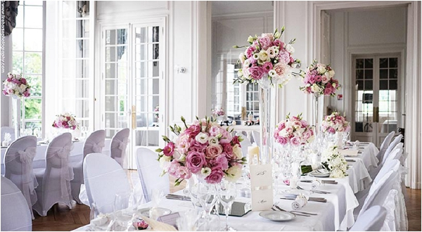 Elegant wedding tablescapes