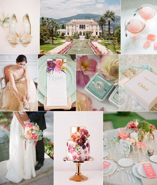 Glamorous French Riviera Wedding Inspiration Board
